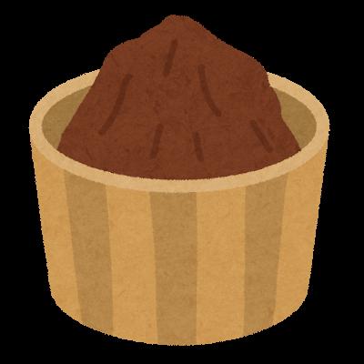 味噌のイラスト(赤味噌)